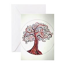 Etz Esh (Tree of Fire) Greeting Cards