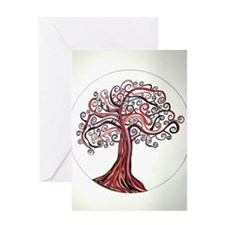 Etz Esh (Tree of Fire) Greeting Cards