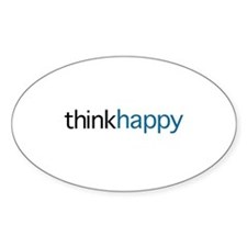 Think Happy (blue edition) Decal