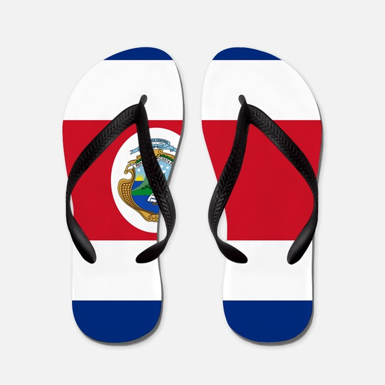 Flag of Costa Rica Flip Flops