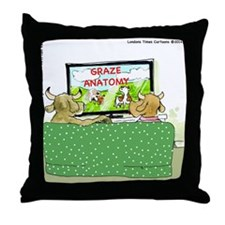 Grey's Cows Anatomy Throw Pillow