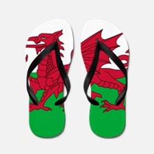 Welsh Flag of Wales Flip Flops