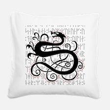 Fafnir The Norse Dragon Square Canvas Pillow
