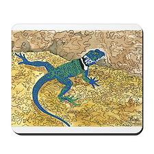 Daily Doodle 6 Sunning Lizard Mousepad