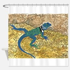 Daily Doodle 6 Sunning Lizard Shower Curtain