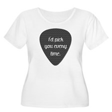"""I'd Pick You Every Time"" guitar pick gray chevron"
