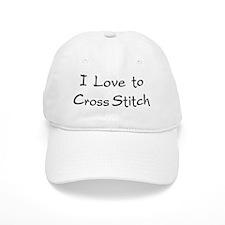 love to cross stitch Baseball Cap