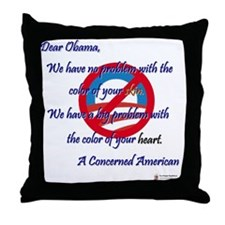 Obama's Heart Throw Pillow