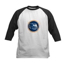 Street Cleaner Truck Circle Retro Baseball Jersey
