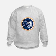 Street Cleaner Truck Circle Retro Sweatshirt