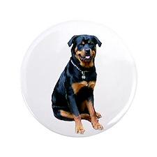 "Rottweiler (gp) 3.5"" Button"