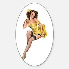 Yellow Lady Stickers