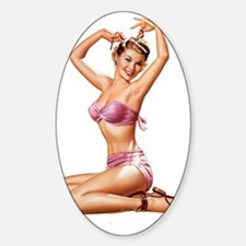 Pin Up Cutie Sticker (Oval)