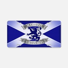 tartan army collection Aluminum License Plate