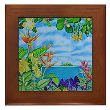 Solitarty Paradise Framed Tile