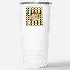 Monkey on Green and Brown Travel Mug
