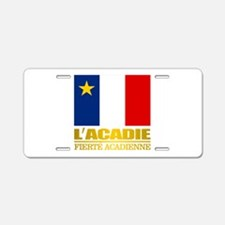 Acadian Flag Aluminum License Plate
