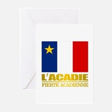 Acadian Flag Greeting Cards
