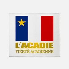 Acadian Flag Throw Blanket