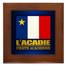 Acadian Flag Framed Tile