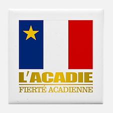 Acadian Flag Tile Coaster