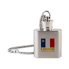 Acadian Flag Flask Necklace