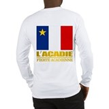 Acadian flag Long Sleeve T Shirts