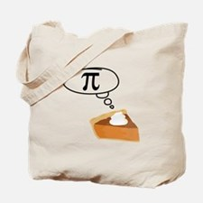 Pumpkin Pie Pi Math Humor Tote Bag