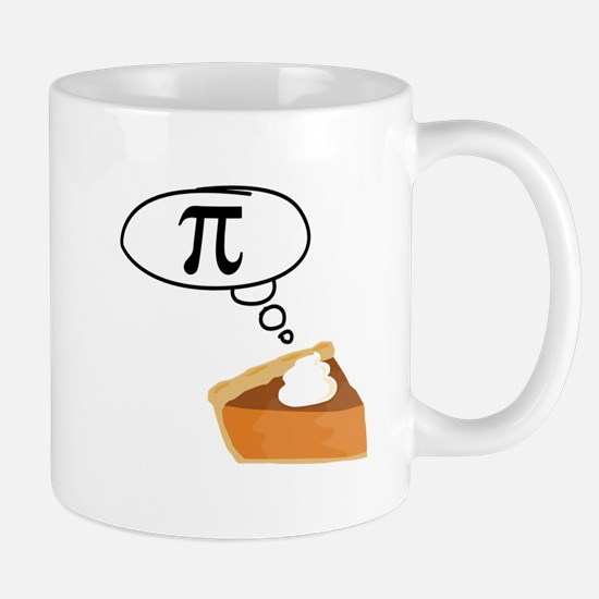 Pumpkin Pie Pi Math Humor Mugs