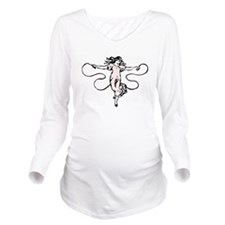 Jumping Rope Long Sleeve Maternity T-Shirt