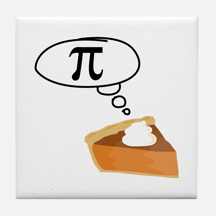 Pumpkin Pie Pi Math Humor Tile Coaster