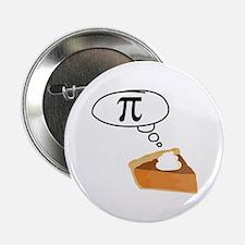 """Pumpkin Pie Pi Math Humor 2.25"""" Button"""