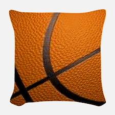 Basketball Sports Woven Throw Pillow