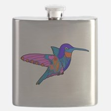 Hummingbird Love Flask