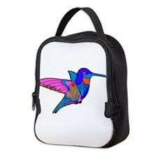 Hummingbird Love Neoprene Lunch Bag