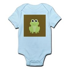 Frog on Green and Brown Body Suit