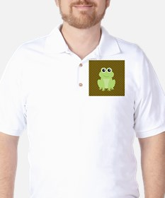 Frog on Green and Brown T-Shirt