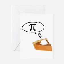 Pumpkin Pie Pi Math Humor Greeting Cards