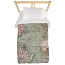 Vintage Map of The World (1918) Twin Duvet