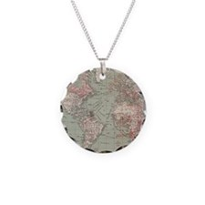 Vintage Map of The World (19 Necklace