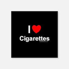 """Cigarettes Square Sticker 3"""" x 3"""""""