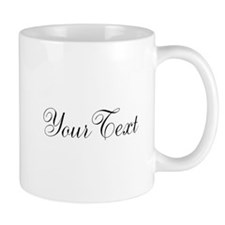 Personalizable Black Script Mugs