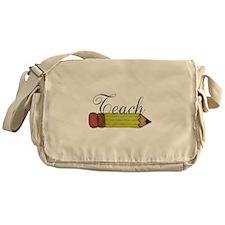 Teach Pencil Messenger Bag