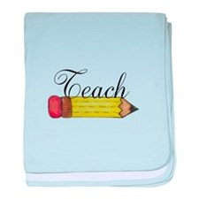 Teach Pencil baby blanket