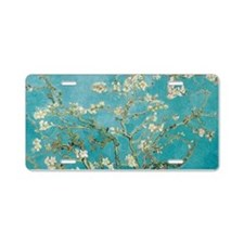 van gogh almond blossoms Aluminum License Plate