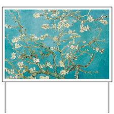 van gogh almond blossoms Yard Sign