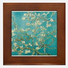 van gogh almond blossoms Framed Tile