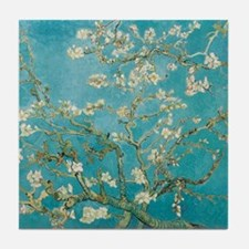 van gogh almond blossoms Tile Coaster