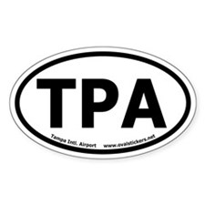 Tampa International Airport Oval Decal