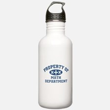 Property Of Math Department Water Bottle